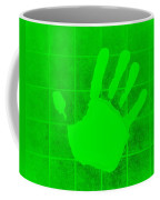 White Hand Green Coffee Mug