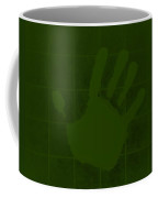 White Hand Olive Green Coffee Mug