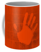 White Hand Orange Coffee Mug
