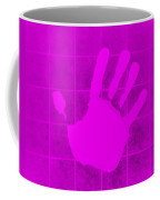 White Hand Purple Coffee Mug