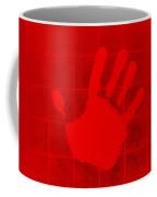 White Hand Red Coffee Mug
