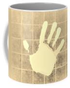 White Hand Sepia Coffee Mug