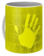 White Hand Yellow Coffee Mug