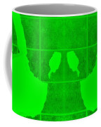 White Hands Green Coffee Mug