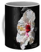 White Hibiscus Coffee Mug