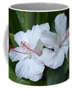 White Hibiscus Trio Waikiki Coffee Mug