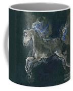 White Horse Minature Painting Coffee Mug