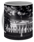 White House Sunrise B W Coffee Mug
