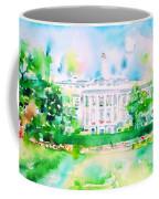 White House - Watercolor Portrait Coffee Mug