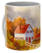 White House With Red Shutters Coffee Mug