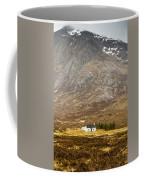 White Hut Under Stob Dearg Coffee Mug