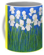 White Irises Coffee Mug