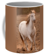 White Mare Approaches Number One Close Up Brighter Coffee Mug