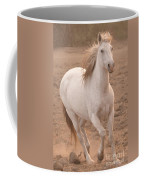 White Mare Approaches Number One Close Up Muted Coffee Mug