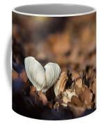 White Mushroom Long Gills Coffee Mug