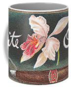 White Orchid Cigar Label Coffee Mug