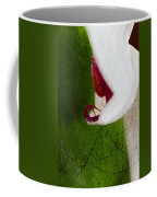 White Orchid Scratched Coffee Mug
