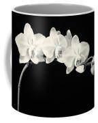 White Orchids Monochrome Coffee Mug