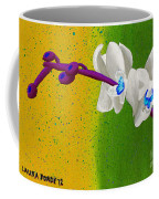 White Orchids On Yellow And Green Coffee Mug