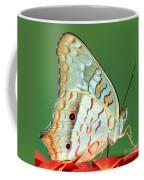 White Peacock Butterfly Anartia Coffee Mug