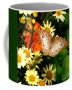 White Peacock Butterfly I V Coffee Mug