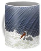 White Pelican Over The Dam Coffee Mug