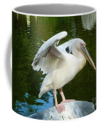 White Pelican Standing  Coffee Mug