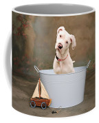 White Pitbull Puppy Portrait Coffee Mug by James BO  Insogna