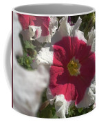White-red Petunia Coffee Mug