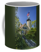 White River Lighthouse In Whitehall Michigan No.057 Coffee Mug