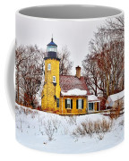 White River Winter Panoramic Coffee Mug