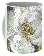 White Rose Abstract Coffee Mug