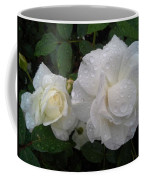 White Rose And Raindrops Coffee Mug