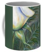 White Rose One Panel Four Of Four Coffee Mug
