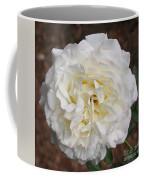 White Rose Square Coffee Mug