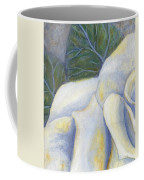 White Rose Two Panel One Of Four Coffee Mug