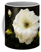 White Rose With Buds Coffee Mug