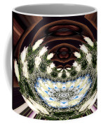 White Roses And Babys Breath Polar Coordinates Effect Coffee Mug