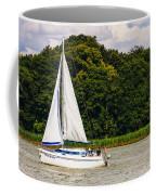 White Sailboat Coffee Mug