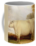 White Short-horned Cow In A Landscape Coffee Mug