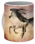 White Stallion Running Free  Coffee Mug