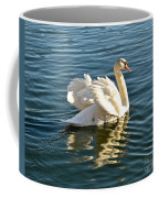 White Swan At Sunset Coffee Mug