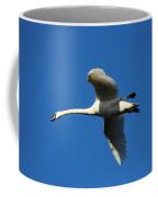 White Swan In Flight Coffee Mug
