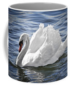 White Swan On Water Coffee Mug