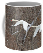 White Swans In Flight 1589 Coffee Mug