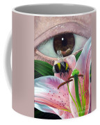 White Tailed Bumble Bee Upon Lily Flower Coffee Mug