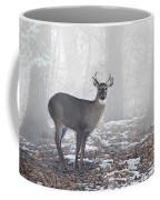 White Tailed Deer Buck In The Mist Coffee Mug