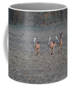 White Tailed Deer Running Coffee Mug
