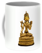 White Tara Coffee Mug by Fabrizio Troiani