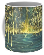 White Trees In The Blue Woods Coffee Mug by Stefan Duncan